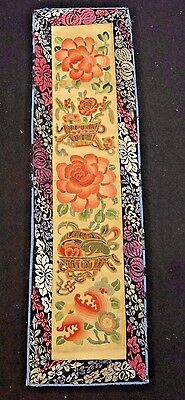 19th C. Qing [Ching] [Ch'ing] D. Chinese Silk Embroidered Toad Sleeve Panel