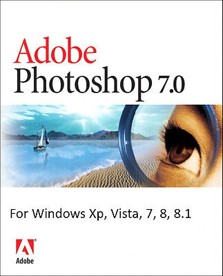 Adobe Photoshop 7.0 for Windows Full Version, Lifetime License, Email Delivery