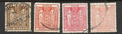 NEW ZEALAND 1931-40 POST FISCALs WMK SINGLE NZ STAR? UP TO £1 PINK - FINE USED