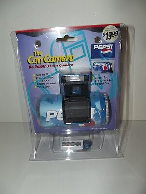 """1998 Pepsi """"The Can Camera"""" Re-Usable 35MM Camera"""