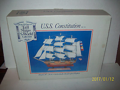 Tall Ship of the World USS Constitution Model Boat Heritage Mint SH 15 IN BOX