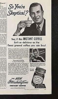 1946 vintage ad for G.Washington's Instant Coffee - Dated