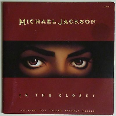 """Michael Jackson - In The Closet 7"""" Poster Sleeve - 1992 Epic  658018 7"""