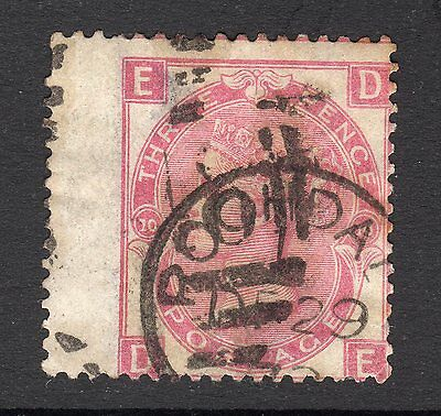 SG103   3d  Rose Plate 10  -  Wmk Spray -  Good to Fine Used  - Cat £150