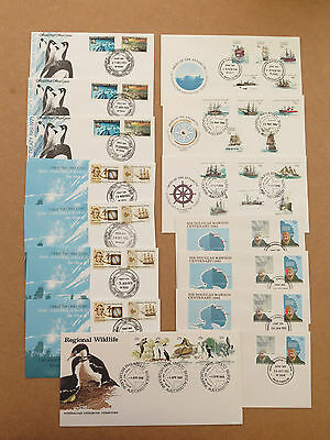 Australian Antarctic Territory First day covers from 1970s/80s