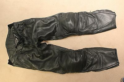Mens Leather 'Weise' Motorcycle Trousers