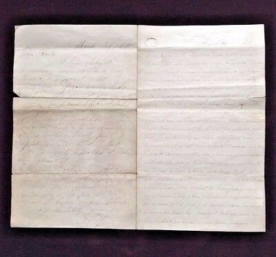 Civil War Soldier DOUBLE Letter~ 2 Men writing to the same Girl ~ March 31 1866