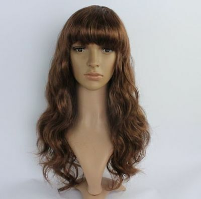 NEW122  fancy new style brown long culry hair  wigs for women wig