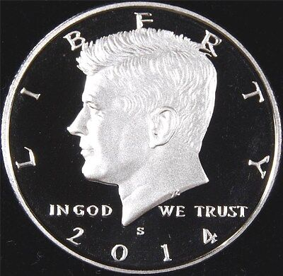2014 S 90% SILVER GEM PROOF KENNEDY HALF DOLLAR deep cameo