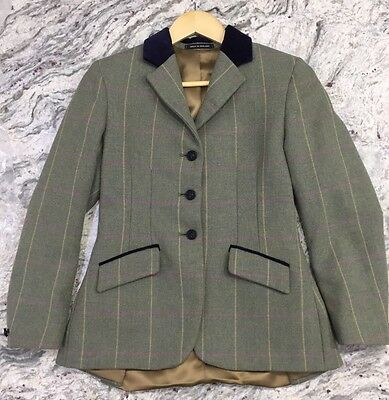 """Pytchley Mears Green Tweed Jacket Size 32"""""""