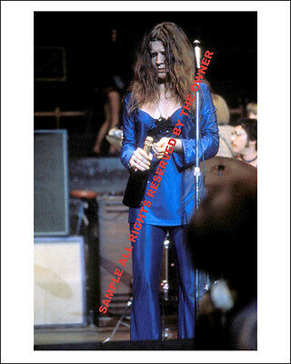 JANIS JOPLIN 1969  IN BLUE SUPERB 8 BY 10 LATE 60`s COLOR NEW