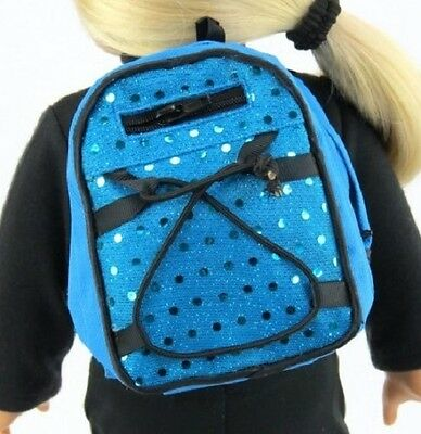 "Blue Sequins Backpack for 15"" 18"" Doll Clothes Accessory American Girl Lovvbugg!"