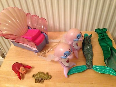 The Little Mermaid Ariel Dolphin Carriage And Accessories Disney