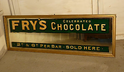 Large Victorian Advertising Mirror, Fry's Chocolate