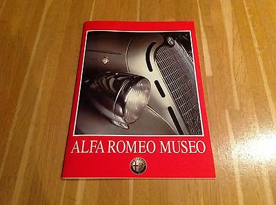 Alfa Romeo Museo Museum Brochure circa 2000, Arese, Milan, 36-pages, MINT COND