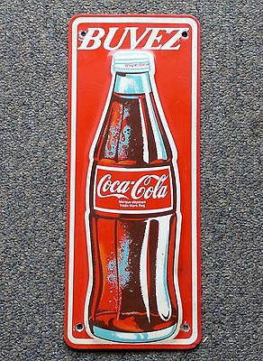 Rare 1970's COKE aluminum door palm push plate metal sign Coke FREE SHIPPING!