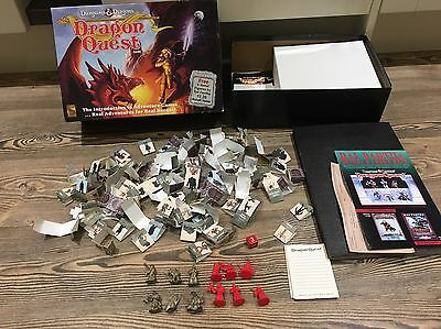 DUNGEONS & DRAGONS: DRAGON QUEST BOARD GAME 1992 & Metal Figures SPARES