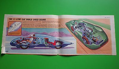 """EAGLE COMICS CUT AWAY - """"1.5 LITRE WORLD SPEED RECORD CAR"""" - 9th AUGUST 1957"""