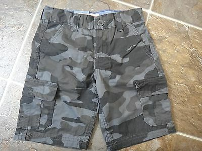 NWT LEVI'S Boys Cargo Shorts Relaxed Fit Gray Camo Sz 4, 5, 6, 7, 8