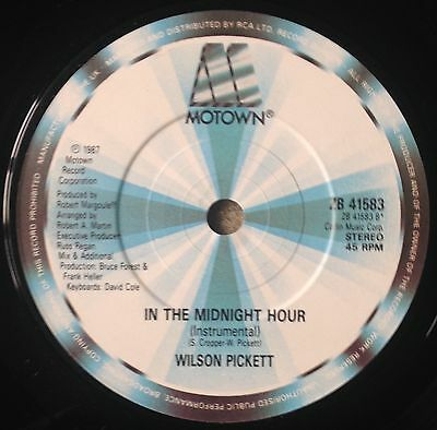 Wilson Pickett, In The Midnight Hour, R&B/Soul, 45RPM Vinyl Single (7-inch)