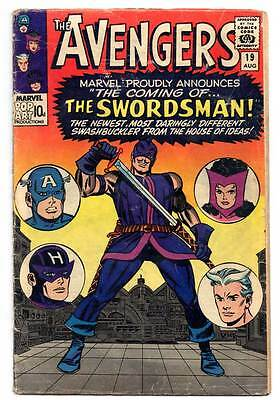 The Avengers Silver Age Comic No. 19 - Aug 1965 - First Appearance The Swordsman