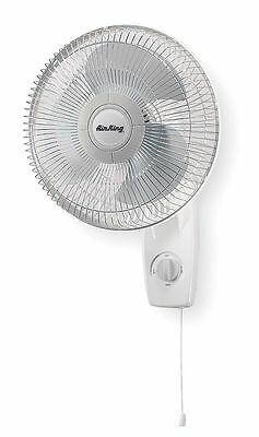 """Air King 12"""" Oscillating Wall Mount Fan, 940/800/700 cfm Air Flow, 120 Voltage -"""