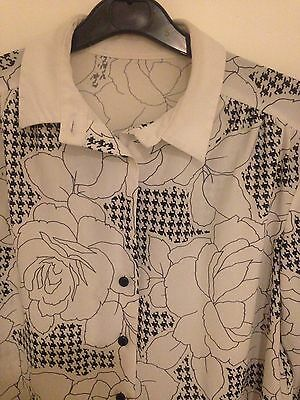 Vintage Shirt Size 12 Good Condition Floral White