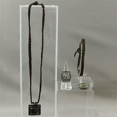 Black Sails Silver Luke Arnold Screen Worn Pirate Necklace Ring Hair Tie Ss2 & 3