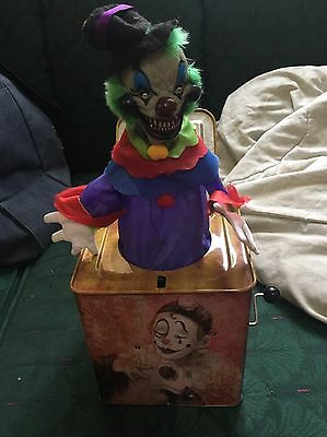 Atico Creepy Scary Clown Jack In The Box Works Lights And Sound