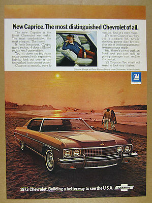 1973 Chevrolet Chevy Caprice Coupe car photo vintage print Ad