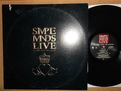 SIMPLE MINDS Live In The City Of Light - US Pressing A&M 1987 Gatefold Double LP