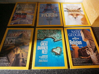 12 x National Geographic Job Lot Magazines From 2011 Vintage 12 items