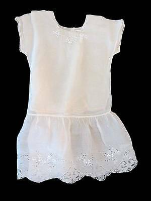 twenties mini flapper little girls dress pink broderie anglaise age 5 vintage