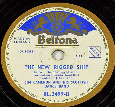 Schellackplatte - Jim Cameron - The New Rigged Ship / Eightsome Reel