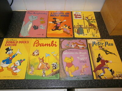 WALT DISNEY'S BAMBI  PURNELL 1972  FIRST EDN Hardback Book Rare Cover X 7 BOOKS