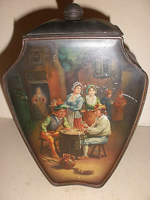 """Nice 9.5""""  Antique advertising Huntley & Palmers Biscuit Tin  box"""