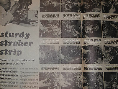 Rare MZ ES150 TS150 TS 125 UK IMPORTER FACTORY ENGINE STRIPDOWN GUIDE