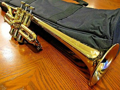 Besson Piccolo Trumpet in key of F, Three Bottom Sprung Valves, Great Shape!