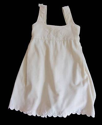 Antique little girls pinafore dress cream wool embroidered NWT's age 5