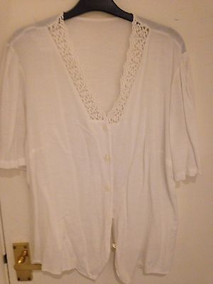 White Vintage Shirt Blouse Good Condition