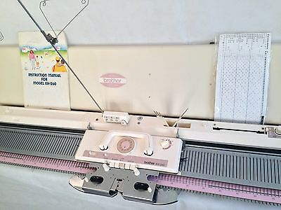 Brother knitting machine chunky KH 260 punch card serviced white  strickmaschine
