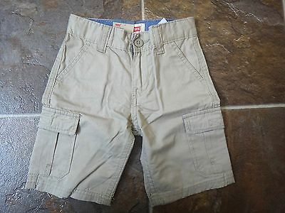 NWT LEVI'S Boys Cargo Shorts Relaxed Fit Khaki Shorts Sz  4, 5,6,7, 8