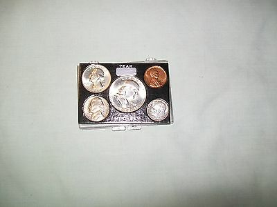 1963-D  U.S. Mint Set w/Solid Plastic Holder