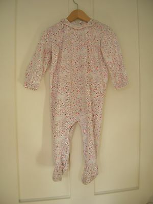 Gocco Baby Spanish Floral Babygrow playsuit sleepsuit size 9-12 months