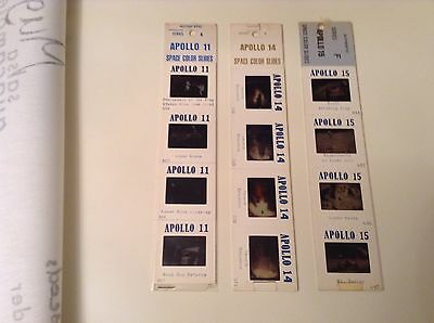 3 Apollo Moon Landing Authentic Space Colour Slides In Sealed Packs