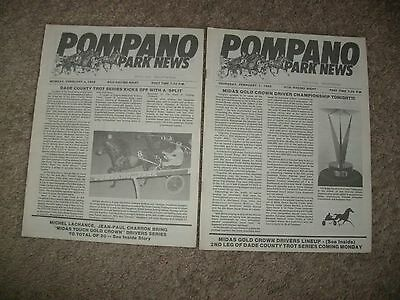 1985 Pompano Park Harness Racing Programs-Driver Championship-Trotting Series