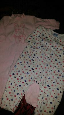 Girls babygrows 6-12 mths great condition