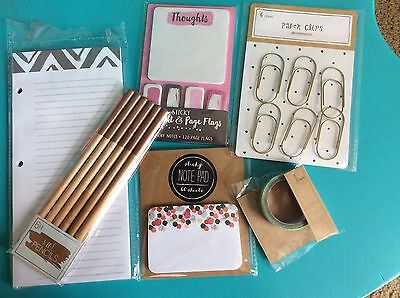 New Target Spot Washi Tape Note Pages Page Flags Pencils Paperclips Note Pad New