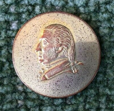Marquis de Lafayette Presentation Button (Bust of Washington) ~ LH & Scovill
