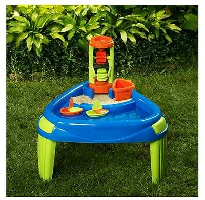 Sand Water Play Table American Plastic Toys Outdoor Kids Play Table 2 Boats